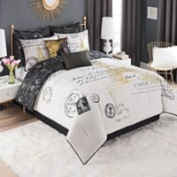 Paris 8-Piece Reversible King Comforter Set in Gold