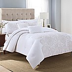 Lilliana 5-Piece Full/Queen Comforter Set in White/Gold