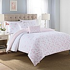 Blossoms 5-Piece Full/Queen Comforter Set in Pink/White