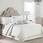 Quilted Dot 7-Piece King Comforter Set in Silver