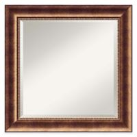 Amanti Art 26-Inch Square Manhattan Wall Mirror in Bronze