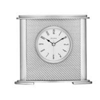Bulova Hewitt Table Clock in Silver