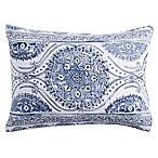 Peri Home Matelasse Medallion Standard Pillow Sham in Blue