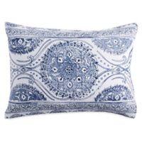 Peri Home Matelasse Medallion Standard Pillow Sham in Blue
