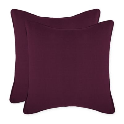 Make Your Own Pillow Braylon Square Throw Covers In Purple Set