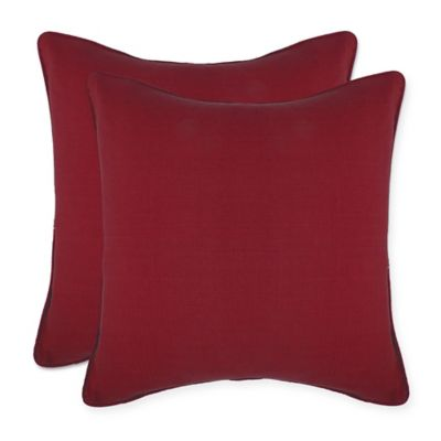 braylon square throw pillow covers in red set