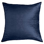 Make-Your-Own-Pillow Grace Square Throw Pillow Cover in Navy