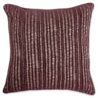 Make-Your-Own-Pillow Manuscript Square Throw Pillow Cover in Ruby Red