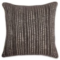 Make-Your-Own-Pillow Manuscript Square Throw Pillow Cover in Brown