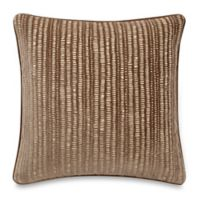 Make-Your-Own-Pillow Manuscript Square Throw Pillow Cover in Taupe