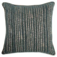 Make-Your-Own-Pillow Manuscript Square Throw Pillow Cover in Teal