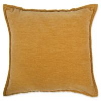 Make-Your-Own-Pillow Sola Chenille Square Throw Pillow Cover in Gold