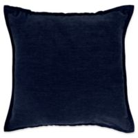 Make-Your-Own-Pillow Sola Chenille Square Throw Pillow Cover in Navy