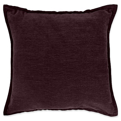 Throw Pillow Covers Bed Bath Beyond : Make-Your-Own-Pillow Sola Chenille Square Throw Pillow Cover - Bed Bath & Beyond