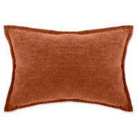 Make-Your-Own-Pillow Sola Chenille Rectangle Throw Pillow Cover in Rust