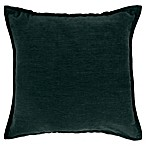 Make-Your-Own-Pillow Sola Chenille Square Throw Pillow Cover in Teal
