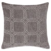 Make-Your-Own-Pillow Alberto Square Throw Pillow Cover in Grey