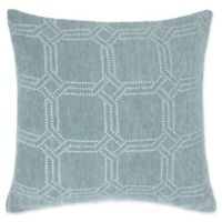 Make-Your-Own-Pillow Alberto Chenille Square Throw Pillow Cover in Teal