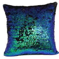 Make-Your-Own-Pillow Mermaid Square Throw Pillow Cover in Blue/Green