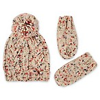 Rising Star™ Infant 2-Piece Space-Dyed Chunky Knit Hat and Mitten Set in Ivory