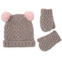 Rising Star™ Newborn 2-Piece Confetti Yarn Hat and Mitten Set in Grey