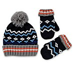 Rising Star™ Infant 2-Piece Fair Isle Hat and Mitten Set in Blue