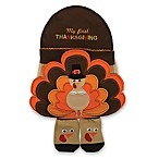 Little Me® Size 0-6M 3-Piece Thanksgiving Hat, Bib and Bootie Set