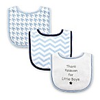 "Luvable Friends® 3-Pack ""Thank Heaven for Little Boys"" Drooler Bib Set in Blue"