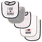 "Luvable Friends® 5-Pack ""I Love Mommy"" Bib and Burp Cloth Set in Blue"