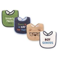 BabyVision® Luvable Friends® 4-Pack Genius Drooler Bibs in Tan