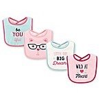 BabyVision® Luvable Friends® 4-Pack Heart Drooler Bibs in Teal