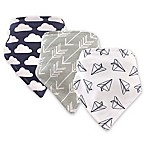 Hudson Baby 3-Pack Plane Bandana Bib Set in Navy