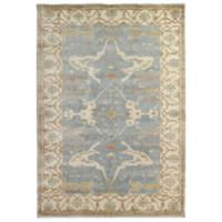 Exquisite Rugs Oushak 8-Foot x 10-Foot Area Rug in Blue/Ivory