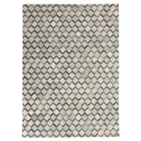 Exquisite Rugs Natural Hide 8-Foot x 11-Foot Area Rug in Ivory/Silver