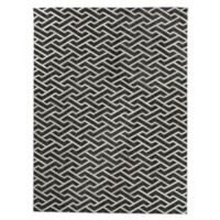 Exquisite Rugs Berlin Angular Pattern 8-Foot x 11-Foot Area Rug in Charcoal/Ivory