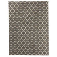 Exquisite Rugs Berlin Quatrefoil 8-Foot x 11-Foot Area Rug in Beige/Ivory