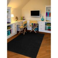Garland Shazaam 4-Foot x 6-Foot Shag Area Rug in Black