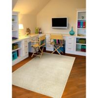 Garland Shazaam 5-Foot x 8-Foot Shag Area Rug in Beige