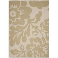 Garland Floral Garden 5-Foot x 7-Foot Area Rug in Tan/Ivory