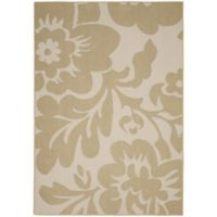 Garland Floral Garden 8-Foot x 10-Foot Area Rug in Tan/Ivory