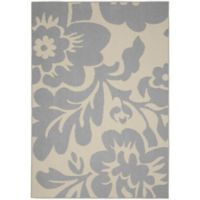 Garland Floral Garden 8-Foot x 10-Foot Area Rug in Silver/Ivory