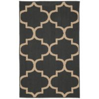 Garland Large Quatrefoil 2-Foot 6-Inch x 3-Foot 10-Inch Accent Rug in Cinder/Tan