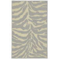 Garland Safari 2-Foot 6-Inch x 3-Foot 10-Inch Accent Rug in Silver/Ivory