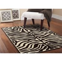 Garland Safari 5-Foot x 7-Foot Area Rug in Putty/Ivory