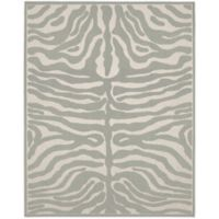 Garland Safari 8-Foot x 10-Foot Area Rug in Silver/Ivory
