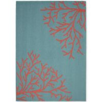 Garland Sea Coral 5-Foot x 7-Foot Area Rug in Teal/Coral