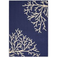 Garland Sea Coral 5-Foot x 7-Foot Area Rug in Indigo/Ivory