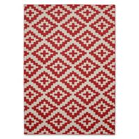 Garland Southwest 5-Foot x 7-Foot Area Rug in Chili/Ivory