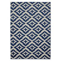 Garland Southwest 5-Foot x 7-Foot Area Rug in Indigo/Ivory