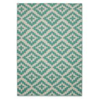 Garland Southwest 5-Foot x 7-Foot Area Rug in Teal/Ivory